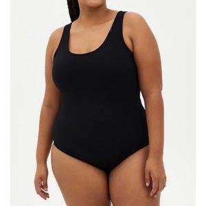 🆕 Black Double Scoop Foxy Bodysuit 3X 22 24 NWT